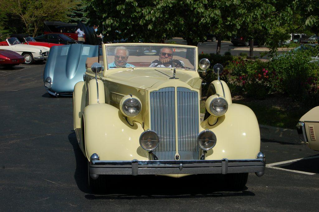 1936 Packard Eight Convertible Couple - Claude Ohanesian